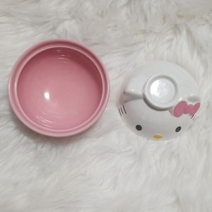 Sanrio Dining - Hello Kitty Ceramic Rice Bowl With Lid